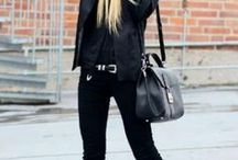 All Black / Classic Styling - Black Mixing different materials and textures, but sticking to black