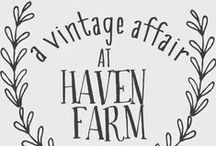 A Vintage Affair at Haven Farm / An upscale vintage shopping event at our micro farm in Mt. Juliet, TN