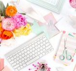 Girl Boss Motivation / pretty paper / agendas / gold / pink / kate spade / ban.do / desktop / desk / pens / computer screen / motivation / hustle for the pretty things / girl boss / motivation