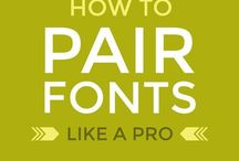 Typography and Fonts / Font and Typography Inspiration | Calligraphy | Script Fonts | Sans Serif Fonts | Serif Fonts | Choosing fonts for your brand | Choosing fonts for your website design