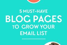 Build an Email List / How to build an email list | Ideas for what to send to your email list | Opt-in freebie | Email sign-up