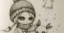 ♥ my inspiration ♥ / elo ♥ uwielbiam rysować i inspirują mnie  tego tybu rysunki ♥