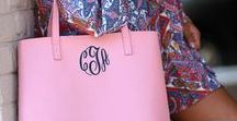 Preppy Mamanista / Monograms, gingham and loafers are essentials for the Preppy Mamanista.  #monograms #mamanista #preppy #momstyle