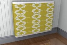 Yellow Radiator Covers / Couture Cases, Covers, Consoles, Mantels to suit yellow room schemes and moods