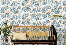 Rifle Paper Co. for Hygge & West / Images of our wallpaper collection designed by Rifle Paper Co. in action! Check out examples of Pineapples, Peonies, Rosa, Cities Toile, Safari and Queen Anne in several colorways.