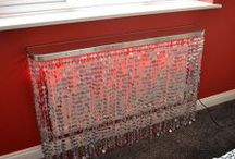 New LUNA Radiator Covers / A range of radiator covers, console or dressing tables and mantle shelves in draped sequins.
