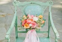 Mint and Peach Wedding / Shades of peach and mint blend harmoniously to create a fresh, light and romantic color palette!  / by Evermine