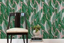 Justina Blakeney for Hygge & West / Images of our wallpaper collection designed by Justina Blakeney of The Jungalow in action! Check out examples of Aja, Fez, Nana, Cosmic Desert and Vitamin C in several colorways.