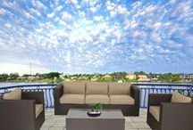 Brown Outdoor Lounge