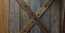 Barn Doors / Check out these chic barn doors that will add any room in your house a rustic and sleek feel!