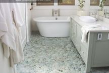 Pebble Tile Installations / Some of the best Pebble Tile Installation inspirations courtesy of Beyond Tile.