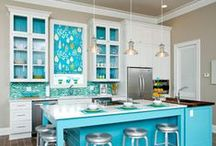 Glass Tile Mosaic Blends / An enticing and eclectic series of glass tile mosaics.