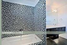 Glass Mosaic Installations / Some of the best installations of Glass Mosaic Blend Tile Inspirations courtesy of Design-4-Less.com