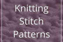 Knitting Stitch Patterns / Pretty knitting stitch patterns accessible on the internet.