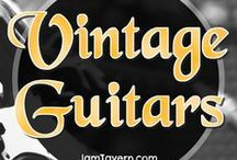Vintage Guitars / The elder race of Guitars. A beautiful collection of the rare and the wonderful. These are Vintage Guitars. Art. A collection of the worlds best 6 string and 7 string splendours.