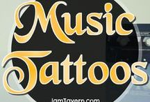 Music Tattoos / Music Tattoos. Skin art with ink. Musician Tattoos, small tattoos, big tattoos and sleeve tattoos