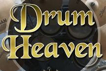 Drum Heaven / Drum kits and Drummers. The time-keepers. The perfectly imperfect metronome machines.