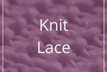 Knit Lace / Lacy knitting stitch patterns, sometimes full charts for shawls