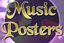 Music Posters / Music posters, gig posters of musicians from all over the world.