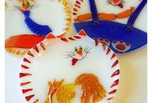 Мои работы - тарелки и тарелочки из стекла ( фьюзинг) / Тарелки и тарелочки разных форм и размеров, на любой вкус. Сделаны мной собственноручно из цветного художественного стекла в технике фьюзинг ( спекание) This is my job from fusing glass