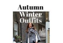 Autumn Winter Outfit Ideas / This is what I've been wearing on the school run during autumn and winter. Style inspiration for every weather and dress code from smart casual to super dressy to laid back casual. Boyfriend jeans, skinny jeans, raincoats and jackets. It's all here!