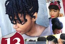 Natural Hair Styles / Natural hair, styles and hair care for black women. Wonderful images of African American women hairstyles. Two strand twist and more.