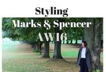 Marks and Spencers AW16 / Photos from my AW16 blog post featuring the new M&S range. I've styled a khaki pea coat, a lace blouse, wide legged trousers and fringed loafers - the perfect outfit for the school run and then onwards to work