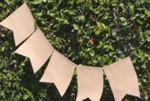 Burlap / Burlap is so hip right now.  Burlap garland, wrap, skirts, linens,  I am waiting for burlap to hit the runways.