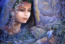 ARTWORK  ~  JOSEPHINE WALL / Beautiful and amazing art by this artist....I love it all! / by Josie Conde