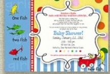 Dr. Seuss - New Fish - Baby Shower Ideas / The inspiration for my shower was one of my favorite childhood books, Dr. Seuss One Fish Two Fish Red Fish Blue Fish. We did not find out the gender so this was also a fun gender neutral theme to go along with my favorite book. It was bright and colorful and perfect for Spring, which is when the shower was. / by Erin Hansbury