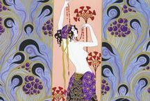 Exquisite Erte / His illustrations are so elegant and tres chic. I love the use of colour, pattern and form.