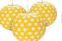Yellow Party / Yellow party themed products and ideas for your next yellow themed event. Jilly Bean Kids