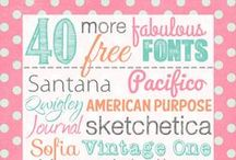 Fonts - Templates - Printables / by Nydia Tantra