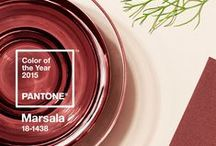 "Marsala - 2015 Pantone Color of the Year / 2015's Pantone color of the year is Marsala, ""an elegant, grounded statement color when used on its own or as a strong accent to many other colors"" / by The Limited"