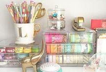 Office / Pretty office designs and great organizing solutions.