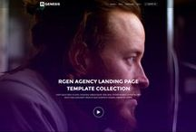 R.Gen - Agency & Portfolio Landing Page Collection / Agency Landing Page Collection is perfect suit for presenting your work or services smart and beautiful way. R.Gen – Agency Landing Pages are a clean and modern landing pages which built with Bootstrap 3. It's include 6 ready home page designs with light and dark themes. Well organised and clean commented codes make your work easy. You can easily customise and organise content for your next project according to project requirement.