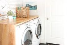 Laundry Room / Pretty laundry rooms + amazing laundry tips!