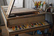 Art Spaces and Organization / My favorite art studios and organization ideas / by Karen Campbell