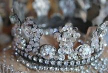 Antiques | French Crowns / Beautiful antique French crowns once gracing saint and madonna statuary. Such storied pieces.