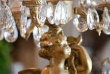 Design | Lighting / Beautiful lighting inspiration.....chandy's, lamps, sconces.....dripping in crystals. Perfect for the french home!