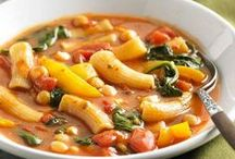 Soups. Stews. Chili. Chowder. / there is nothing like a hot, bowl of yummy soup, stew, chili, chowder, etc. on a cold, winter's day or night....AND on a hot summer night, soothe your fire with cool, creamy fruit soups, or light soups made with simple veggies and pureed. So tasty, so quick and easy!  / by Lisa Siler