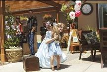 Alice in Wonderland/Mad Hatter Parties / Alice in Wonderland and the Mad Hatter are natural party themes for kids and adults. With so much inspiration you can go sophisticated or child-like and still have it come out beautifully.