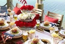Labor Day Party Planning / Thinking about what to include for your Labor Day bash? Here are some of our favorite holiday ideas including decorations, food, drinks, and of coarse entertainment! Check out how to wow your guests this Labor Day!