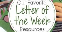 Homeschool - Letter of the Week / These are ideas for tackling preschool at home using Letter of the Week themes.