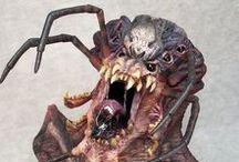spider skull / spiders skulls monsters maggots spider larvae skull arachnid skull worm