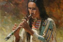 native american style flute.
