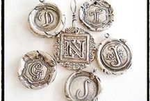 WAX SEAL INITIAL Pendants / A personalize gift is always well received. Especially  when it is  a handmade, one of a kind recycled sterling initial pendant, crafted from an antique artifact into a modern heirloom! / by Norah@ Your Daily Jewels