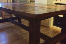 Rustic dinner table / Table made of barnwood