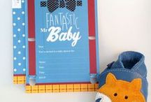 Tips for a baby boy fox baby shower / Ideas for baby shower, new baby and first birthday parties. Coordinated cards and decorations in the fashionable fox style. Fox baby shower, fox birthday, fox nursery.