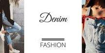 Fashion - Denim /  Denim fashion, jeans, ripped denim, double denim, ways to wear denim - I love denim!